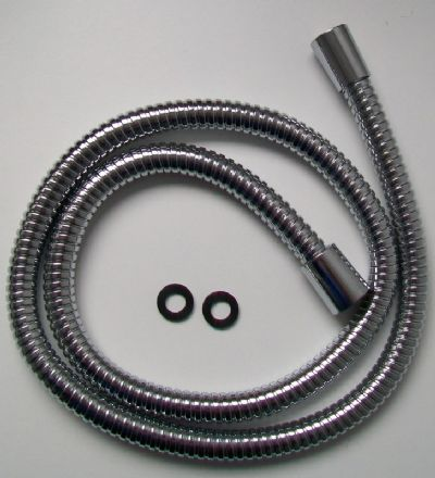 Large Bore Stainless Steel Shower Hose - 4 foot / 1.25 Metre - 50803232